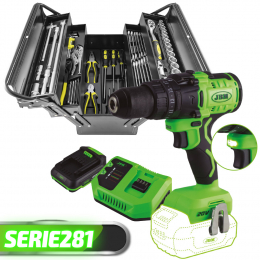 PROMO POWER TOOLS: PERCEUSE À PERCUSSION + BOÎTIER METAL 64PCS